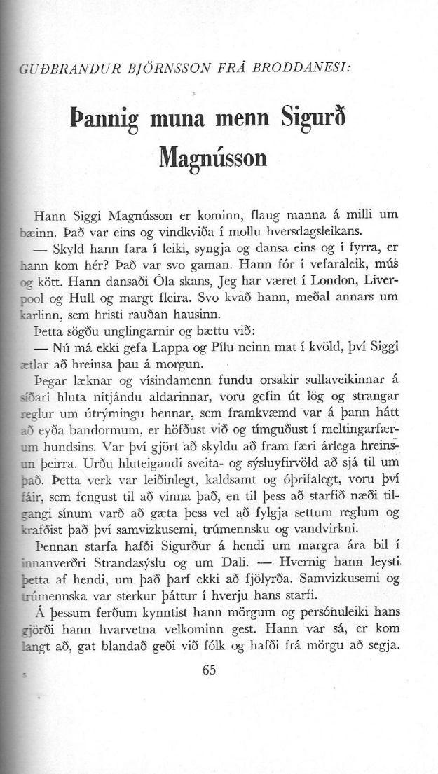 Sigurður Magnússon